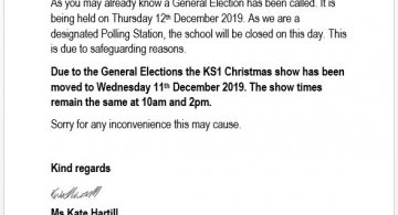 School Closed on 12th December- General Elections